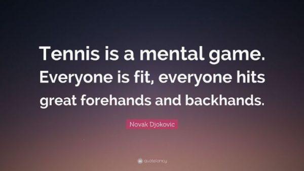 tenis je mentalna igra